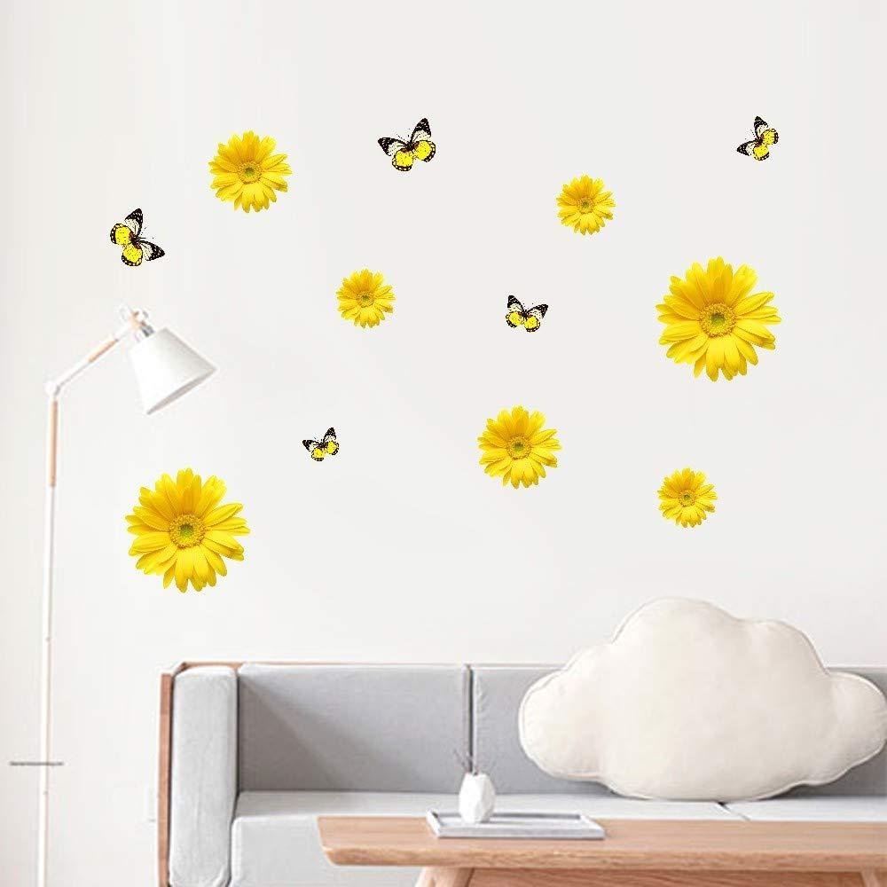 AMSKY Wall Sticker Decor,Chrysanthemum Home Decor Wall Sticker Decal Bedroom Vinyl Art Mural,Baby Place Mats