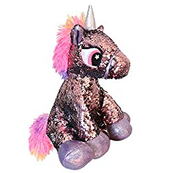Unicorn Plush Toy with Reversible Sparkle Sequins