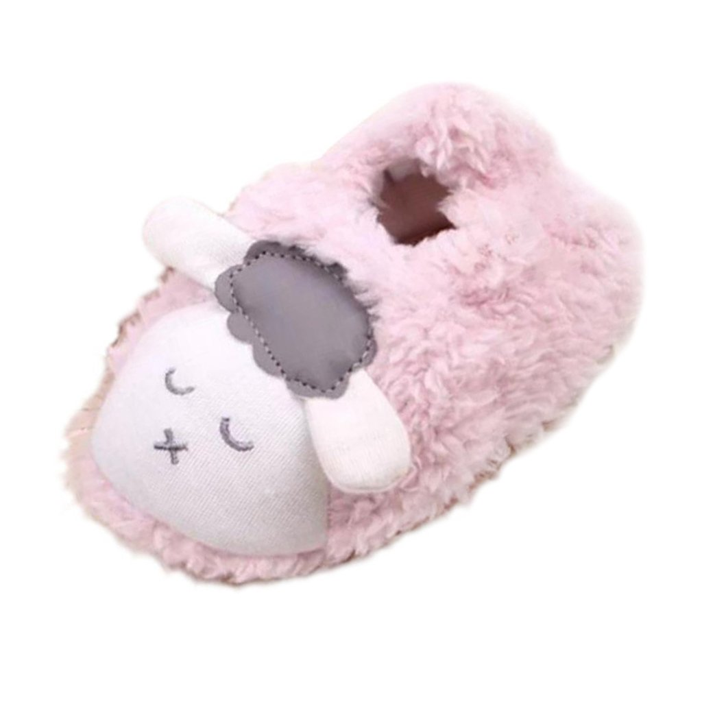 MagiDeal Coral Fleece BabyToddler Shoes Soft Sole with Sheep Pattern - Pink,a, 13-15cm STK0155004596