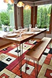 Reclaimed Wood Dining Table and Matching Bench Combo | Salvaged Barn wood | 2.50″ Inches Thick Premium wood | FREE SHIPPING