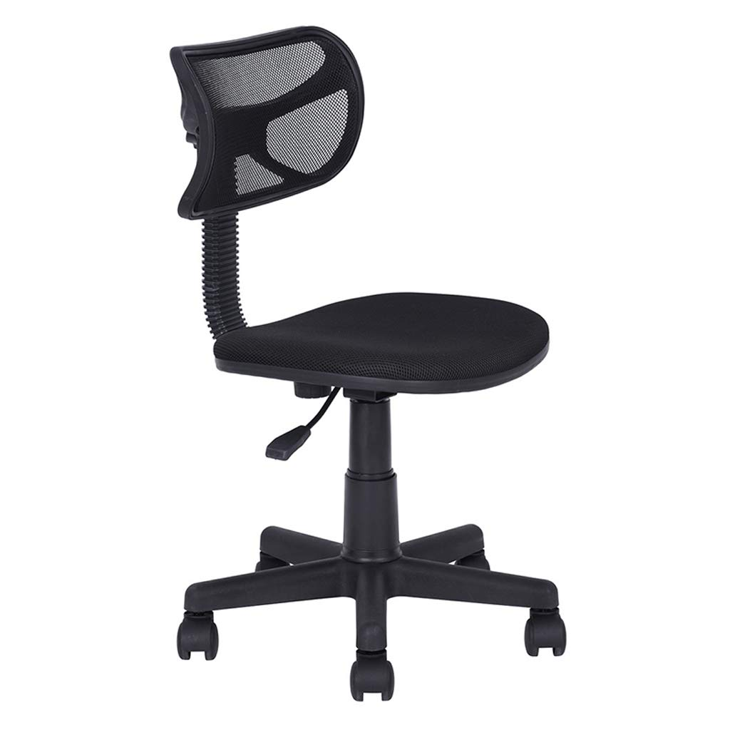 A Zcxbhd Computer Chairs redate Lift Black Waist Belt Office Net Study Student Household Chair (color   B)