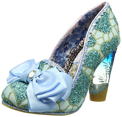 Irregular Choice Cola Cubes, Escarpins Bout fermé Femme Bleu (Blue B)