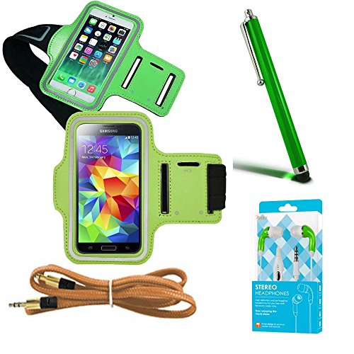 Green Armband Exercise Workout Case with Keyholder by Newyourcellphone