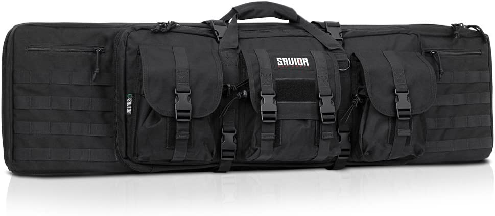 "Savior Equipment American Classic Tactical Double Long Rifle Pistol Gun Bag Firearm Transportation Case w/Backpack - Lockable Compartment, Available Length in 36"" 42"" 46"" 51"" 55"""