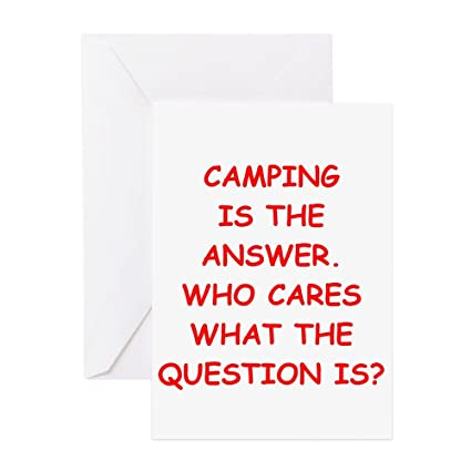 Amazon Cafepress Camping Greeting Card Note Card