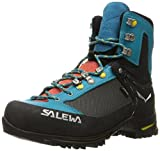 Salewa Women's Raven 2 GTX-W Mountaineering Boot, Ocean/Ringlo, 7.5 D US