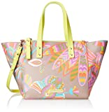 Trina Turk Poolside Satchel Top Handle Bag, Egyptian Floral Taupe, One Size
