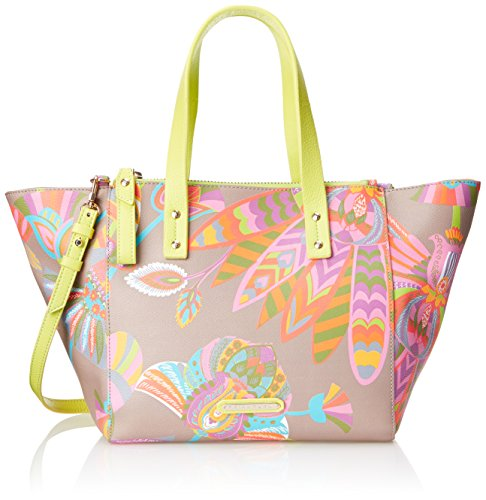 Trina Turk Poolside Satchel Top Handle Bag, Egyptian Floral Taupe, One Size by Trina Turk
