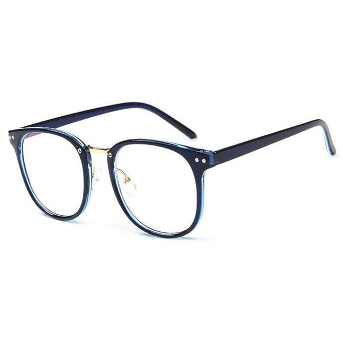 Mode Retro Brille Rechteckig Rahmen Klassisch Anti-Blau Brille für Damen Herren IxLfcdn