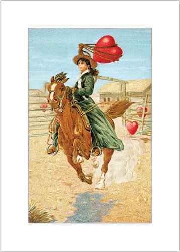Lucca Paperworks Cowgirl Love Card, 5x7, Set of (Lasso Cake)
