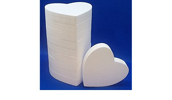 2 PC Set EPS Styrofoam HEARTS 12 x 2
