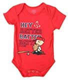 MLB Boston Red Sox Baby Boys Infants Peanuts Love Baseball Creeper, Red