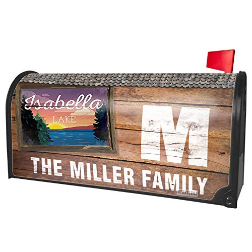 NEONBLOND Custom Mailbox Cover Lake Retro Design Lake Isabella -