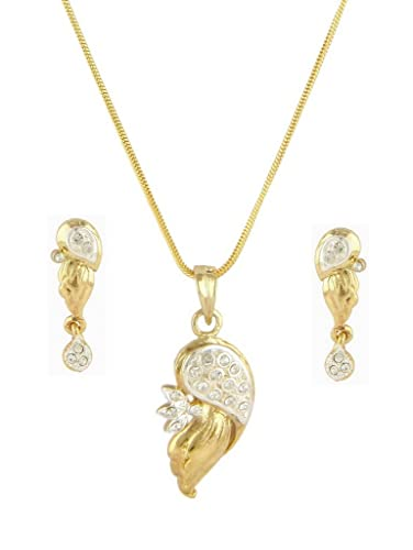 Buy pendant set american diamond 24k gold plated bollywood beautiful pendant set american diamond 24k gold plated bollywood beautiful designer pendant set for women cps8064 mozeypictures Image collections