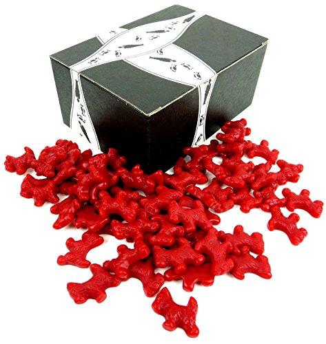 Scottie Dog Red - Cuckoo Luckoo Gourmet Red Licorice Scottie Dogs, 24 oz Bag in a BlackTie Box