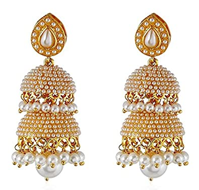 01e17d9ef23ac YouBella Jewellery Traditional Gold Plated Fancy Party Wear Jhumka/Jhumki  Earrings for Girls and Women