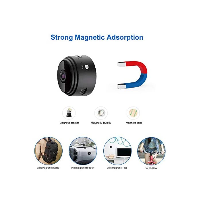 Mini Spy Camera Wireless Hidden Camera WiFi HD 1080P Small Nanny Cam Home  Security Motion Detection Nigh Vision Remote View with Cell Phone App