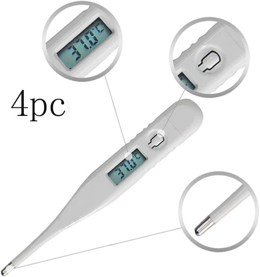 Ohbiger Waterproof LCD Screen Thermometer for Adults,Portable Temperature Digital Thermometer,Temperature Measurement for Child Kids,Temperature Measurement for Fever Home Tool