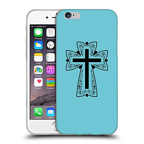 GoGoMobile Coque de Protection TPU Silicone Case pour // Q07880627 Christian Cross 13 Cyan // Apple iPhone 6 4.7""