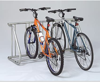 Bike Rack Grid Holds 5 Bicycles Powder Coated Galvanized Steel Single Sided New