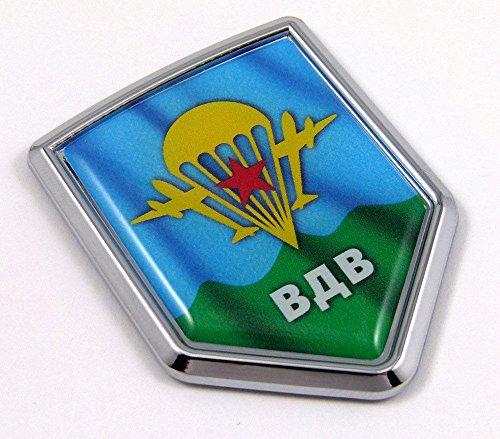 (Russian VDV Desant Airborne troops Flag Car Chrome Emblem Decal 3D Sticker)