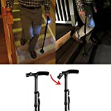 New LED Folding Cane Small Base Bariatric 500lbs,Walking Aid Medical Mobility Adjustable