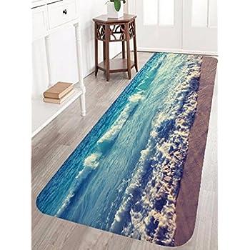Amazon Com Sea Shell Ocean Beach Bathmat Rug Starfish