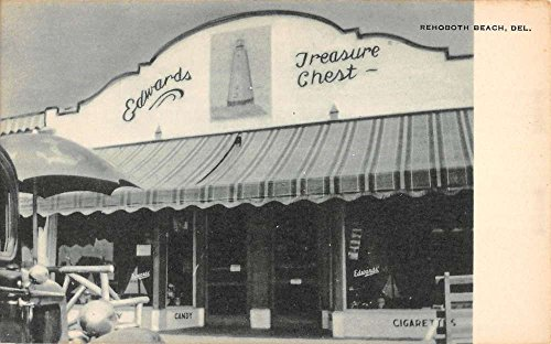 Rehoboth Beach Delaware Treasure Chest Store Antique Postcard K80035 (Chest Antique Linen)