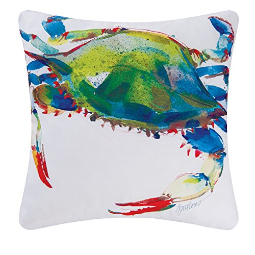 Blue Crab Decorator Pillow, Indoor Outdoor Use