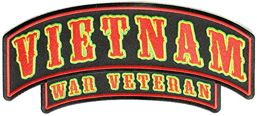 Vietnam War Veteran Rocker Large - 10x4 inch