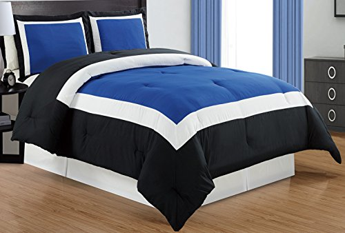 blue and white comforter - 6