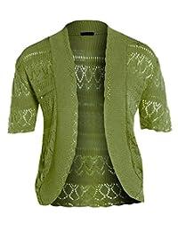 New Womens Crochet Knit Cardigans Fishnet Bolero Tops