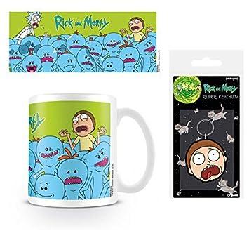 Set: Rick Y Morty, Mr. Meeseeks Taza Foto (9x8 cm) Y 1 Rick ...