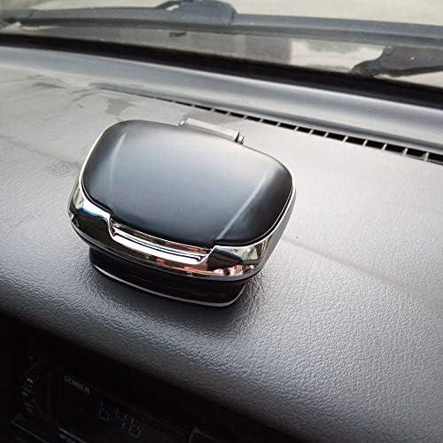 EUEMCH 車の灰皿実用的なポータブル無煙灰皿耐久性のある自己接着シガレットホルダー灰皿