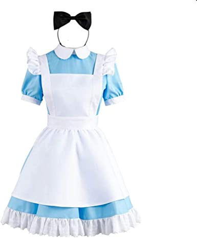 Wonder Princess Costume Alice In Wonderland Blue Halloween Fancy Dress Costume