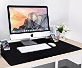 Large Gaming Mouse Pad / Mat, Vogek Extended Mousepad Desk Pad XXL with Two Kick Stands for Smartphones, 33' x 22' x 0.1', Black