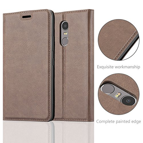 Cadorabo - Funda Book Style Cuero Sintético en Diseño Libro para >                                              Lenovo (Motorola) K6 NOTE                                              < �?Etui Case Cover Carcasa Caja Protección con Imán Invisible en MARRÓN-CAFÉ MARRÓN-CAFÉ