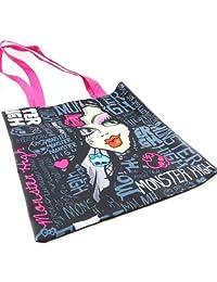 Shipping bag 'Monster High' black blue pink.