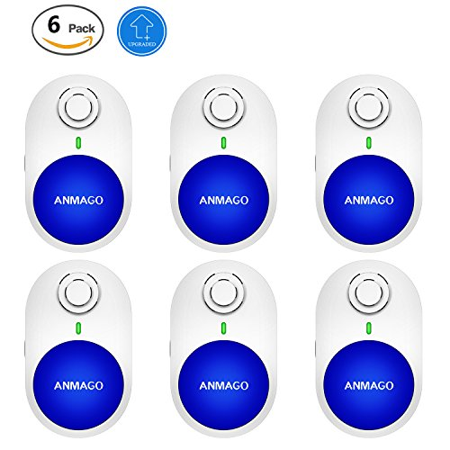 [Upgraded 2018] Ultrasonic Pest Repeller - Pest Control 6 Pack with Enhanced Ultrasonic Frequency - Plug-In Electronic Home Repellent Anti Mouse, Spider, Insect, Mice, Ant, Roach, Mosquito (6 PACK)