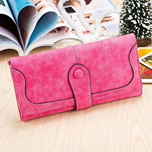 Lady Bag Long Womens Messenger Zipper Wallet (Color - Rose)