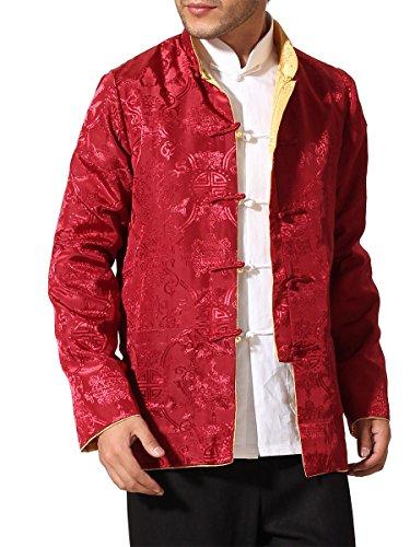 (Bitablue Men's Auspicious Reversible Chinese Shirt (XX-Large,)
