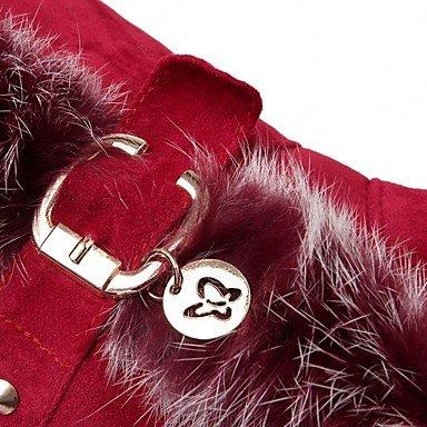 Heart&M Damen Schuhe Kunstleder Herbst Winter Modische Stiefel Stiefel Keilabsatz Runde Zehe Booties Stiefeletten Schnalle Für Normal Schwarz red