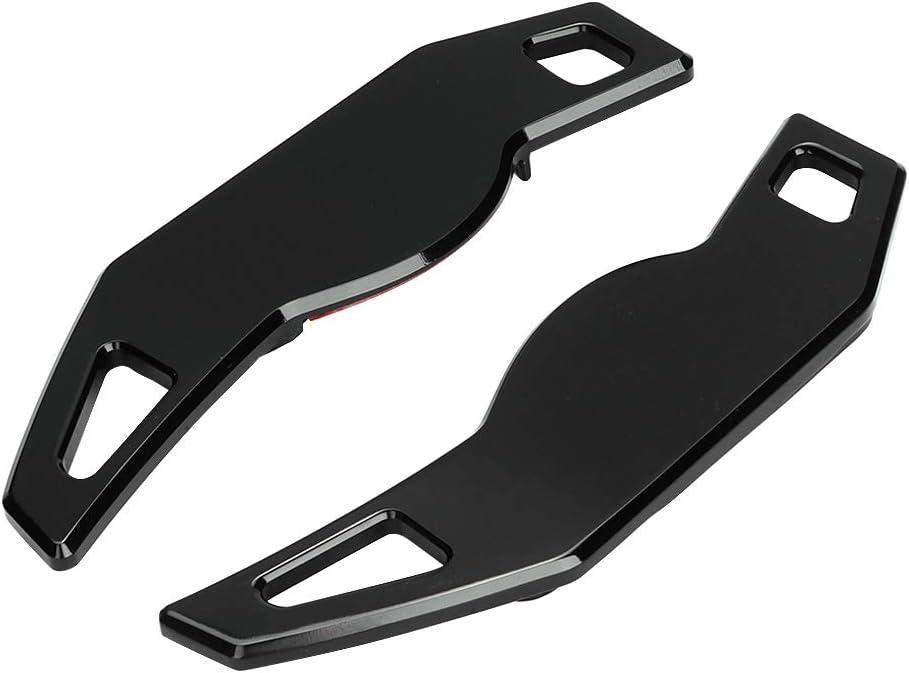 Kimiss 2pcs Lenkrad Schaltpaddel Extensions Aluminium Alloy Lenkrad Zubehör Auto