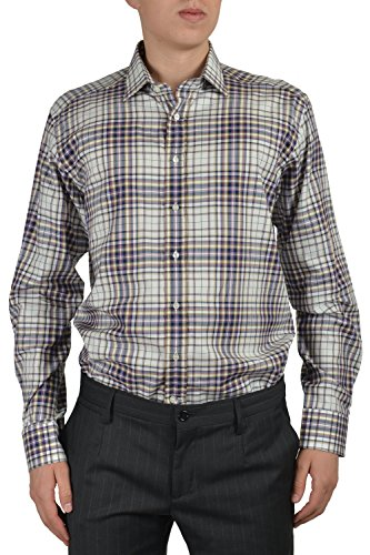 Etro Men's Multi-color Long Sleeve Button Down Dress Shirt Sz US 16.5 IT 42