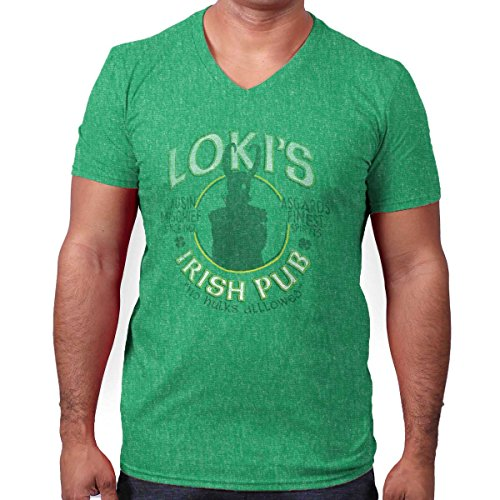 Villains Irish Pub Funny Comic Book Nerd V-Neck T Shirt -