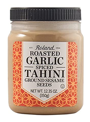 Roland Products, Tahini, Roasted Garlic, Pack of 6, Size - 12.35 OZ, Quantity - 1 Case (Roland Garlic)