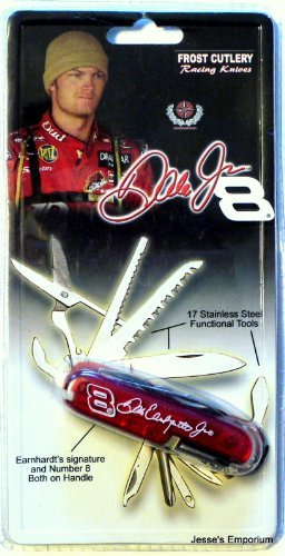 Nascar Dale Earnhardt Jr. No. 8 - Small Pocket Knife / Multitool- 17 Functions (Nascar Pocket)