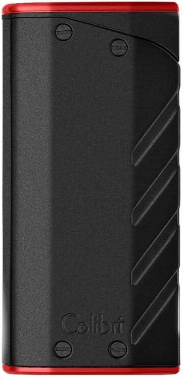 Silver /& Black Colibri Torque Dual-Flame Lighter