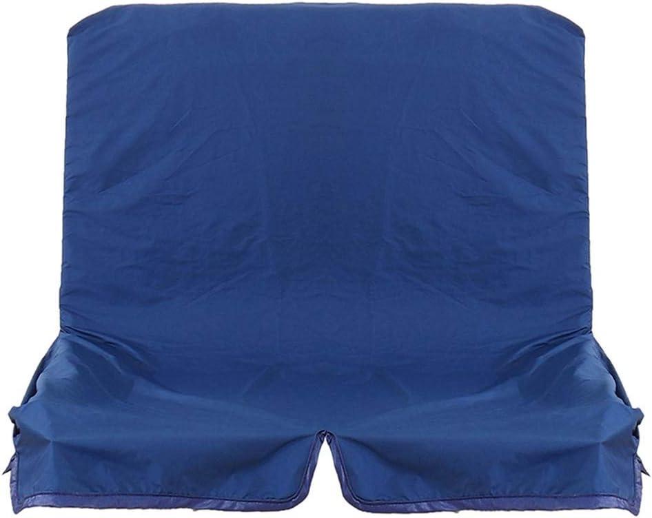 Nobrannd UV y Resistente 2/3 plazas reemplazo de Dosel Columpio Hamaca Asiento Libre Sofá Cubre Sillas Silla de jardín Banco Azul Negro Oscilaciones del Dosel (Color : Blue, Size : One Size)