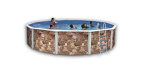 TOI - Piscina ROCALLA CIRCULAR 460x120 cm Filtro 3,6 m³/h.: Amazon ...